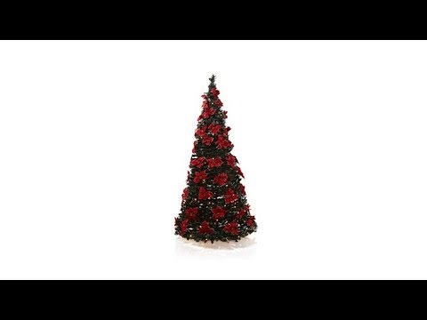 Winter Lane 6' Poinsettia Decorated PopUp Christmas Tree - YouTube