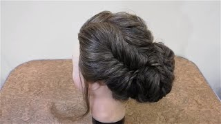 New Low Side Bun For Prom, Wedding, Party. Updo Hairstyle Tutorial / Bridal Hairstyle 2019 Pakistani