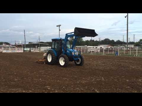 2015 Ls Tractor XU 6168 dragging the dalton pro rodeo arena like a boss