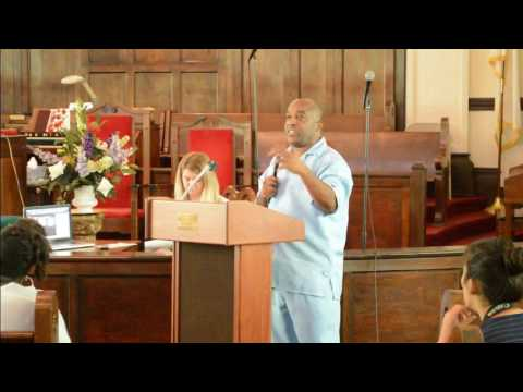 PASTOR KENNETH GLASGOW AT BROWN CHAPEL AME CHURCH