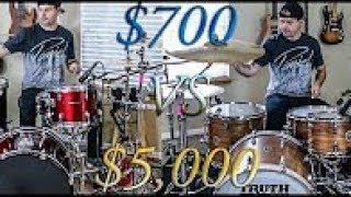 сравнение барабанных установок за 700 и  5000 долларов (JARED DINES RUS)