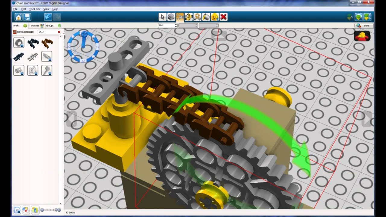 Lego Digital Designer Creating A Chain Assembly Youtube