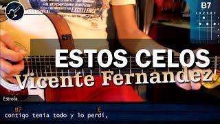 """vuclip Cómo tocar """"Estos Celos"""" de Vicente Fernández en Guitarra Acústica (HD) Tutorial - Christianvib"""