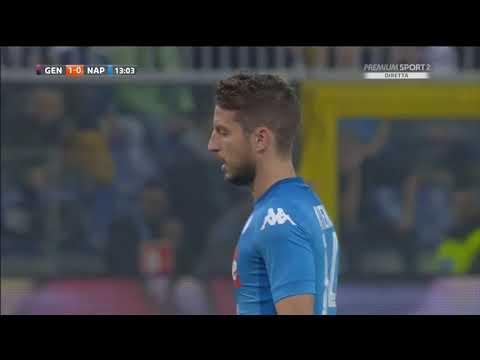 Genoa-Napoli 2-3 Tripletta di Dries Mertens un leone.
