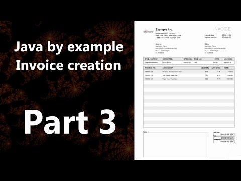 Invoice creation part 3 (Java by Example)