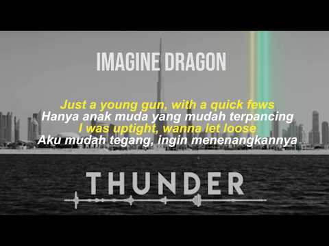 THUNDER-Imagine Dragon - [Lyric Video Dan Terjemahan Indonesia]
