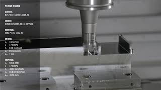 Plunge Milling Application with Turbo 16   Seco Tools