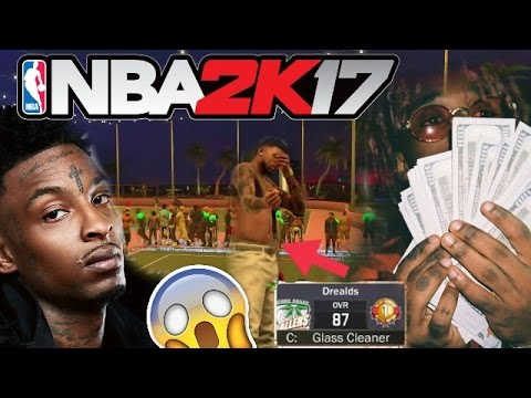 21 SAVAGE AND LIL UZI VERT AT THE PARK ! NBA 2K17 SUPERSTAR 1 KILLING IT ! (UNSTOPPABLE)