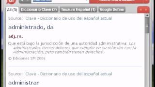 Definición de administrada