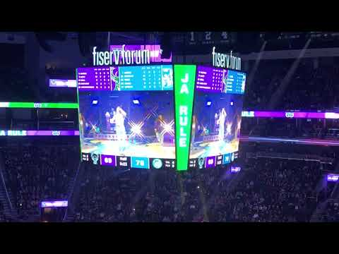 Kobe - WATCH Ja Rule's awkward performance at Milwaukee Bucks game
