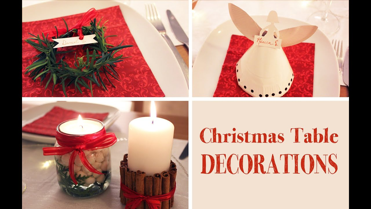 diy christmas table decorations youtube - Christmas Table Decoration Ideas Easy