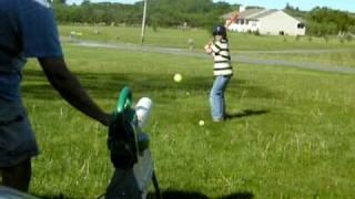 Leaf Blower Pitching Machine