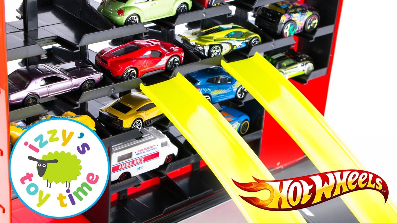 Cars for Kids | Hot Wheels and Fast Lane Carry Case Race Playset ...