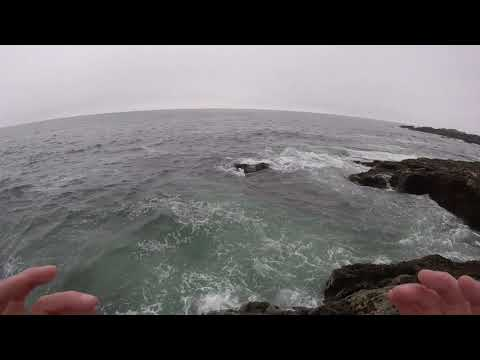 Striper Fishing Off The Rocks In Cape Neddick, Maine
