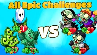 Plants vs Zombies Heroes All EPIC CHALLENGES Top 10 Heroes Gameplay from Primal