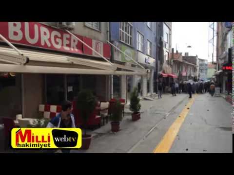 Gebze'de polis PKK yandaşlarını dağıttı
