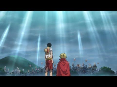 Luffy and sanji reunion.