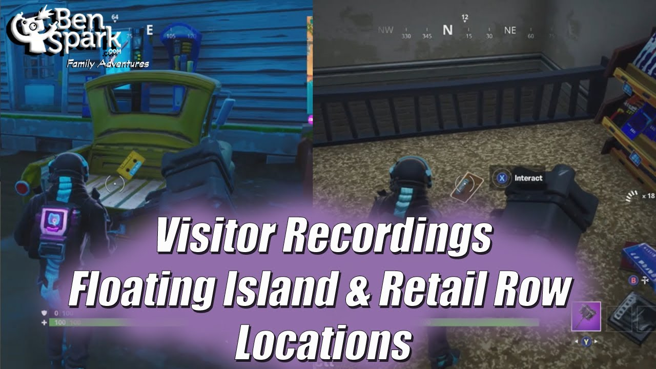 Fortnite Out Of Time Challenges Find Visitor Recordings In Retail Row And Floating Island