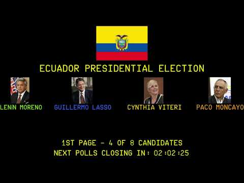 Coverage Of The Ecuador Presidential And Parliamentary Elections And Tax Haven Referendum - Part 1