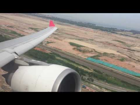 A330-200 Air Mauritius Taxi and Take Off From Singapore Changi