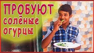 ИНОСТРАНЦЫ ПРОБУЮТ СОЛЕНЫЕ ОГУРЦЫ. Реакция индийцев на нашу еду. Не всем понравилось.