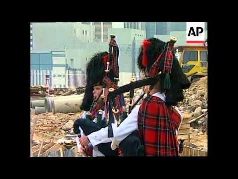 HONG KONG: LAST BRITISH WARSHIP ARRIVES BEFORE THE HANDOVER TO CHINA