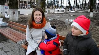 Апшеронск, новогодняя елка.  Обновленный сквер 60-летия Победы.