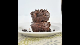 4 Ingredient Flourless Chocolate Muffins (vegan, Gluten Free & Grain Free)