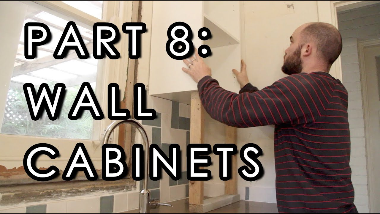 How To Hang Wall Cabinets - Laundry Reno, Part 8 - YouTube
