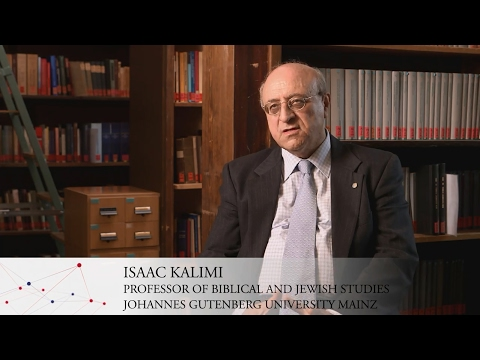GRC FACES OF EXCELLENCE: Isaac Kalimi – Communicating between Judaism and Christianity (13.02.2017)