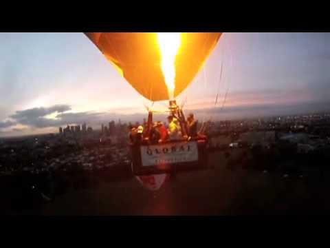 Through the clouds in a hot-air balloon
