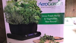 AeroGarden Harvest LED Indoor Hydroponic System Unboxing and Setup