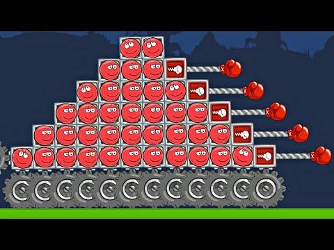 9999 КРАСНЫХ ШАРИКОВ в BAD PIGGIES - в игре Красный Шар и его Машинка Строим с Спуди - Red Ball 4
