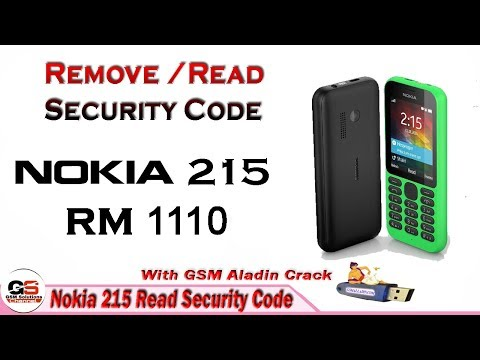 Nokia 215 (RM-1110) Reset / Read User Sreen Lock Sercurity Code Without Losing Data With Crack