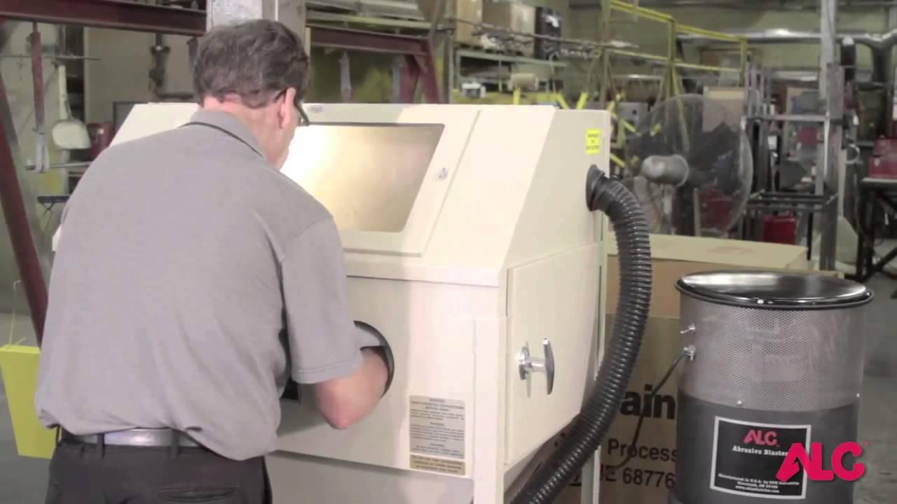 ALC Steel Blast Cabinet - YouTube