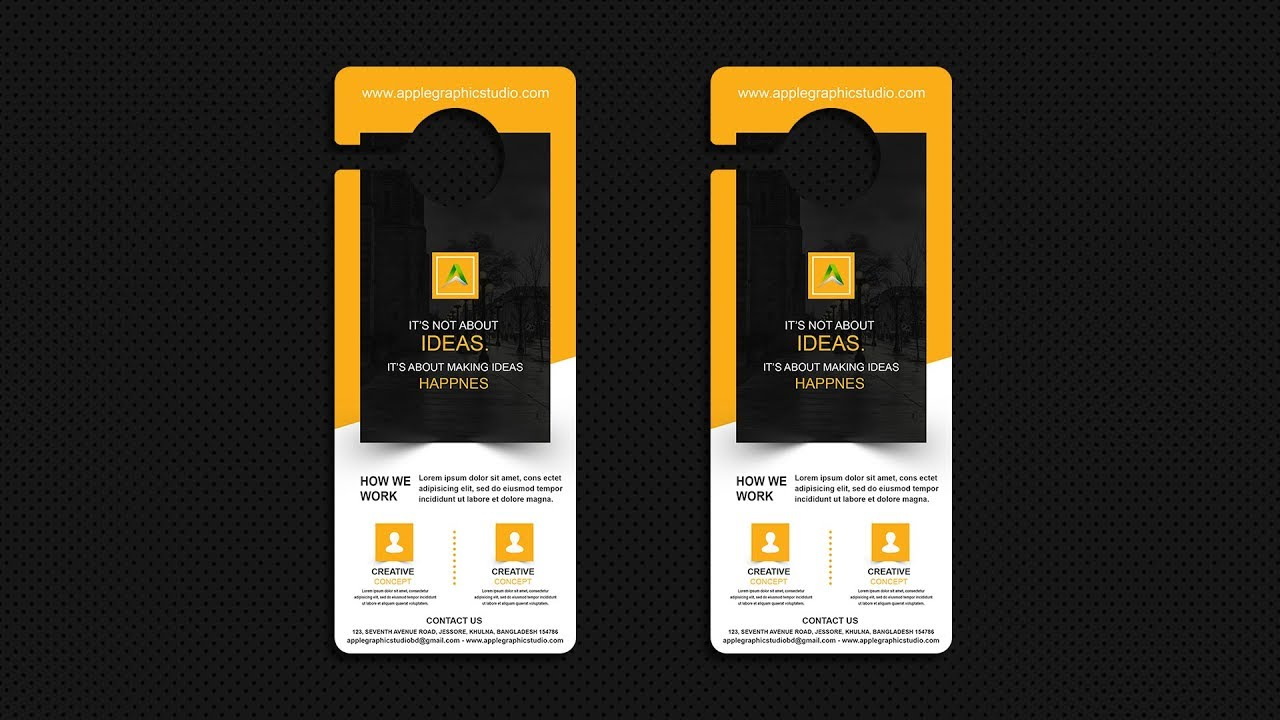 How to Design Mockup for a Door Hanger - Photoshop CC Tutorial - YouTube