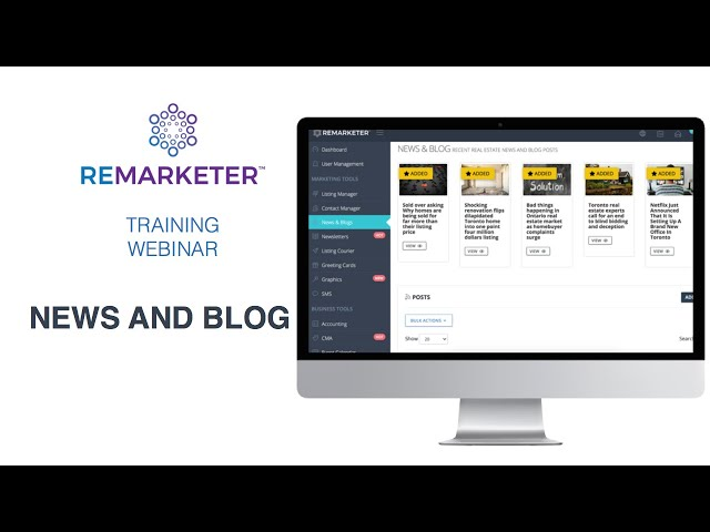 REMARKETER Training - News and Blog