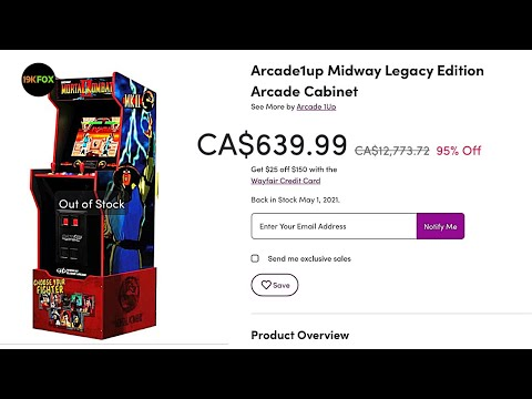 Arcade1up Midway Legacy Cabinet Reappears, Redesigned and a Ridiculous Price! from 19kfox