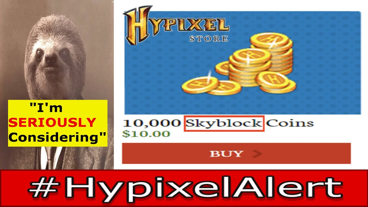 Hypixel may SELL COINS for SKYBLOCK! #HypixelAlert AGAINST EULA!? - Giveaways NOT ALLOWED!? - Simon