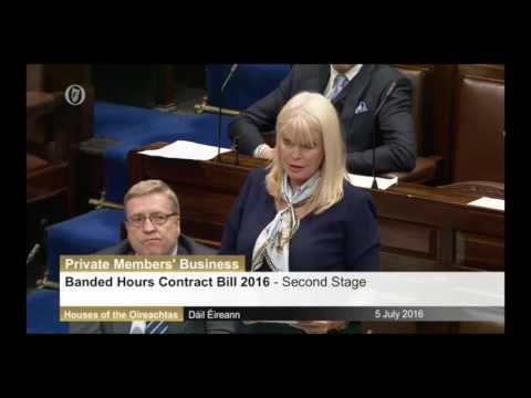 Fine Gael Minister Mary Mitchell O Connor responds to the Banded Hour Contract Bill