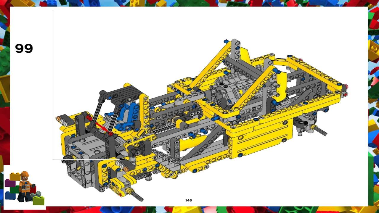 Lego Instructions Technic 42009 Reach Stacker Book 2 Youtube