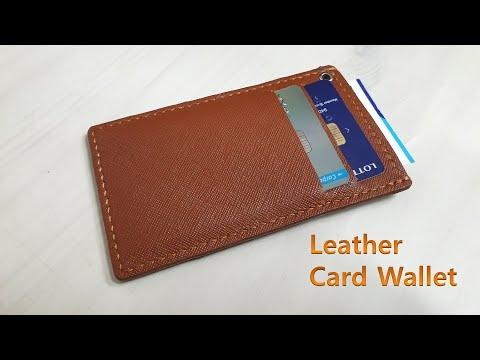Leather Craft 가죽공예 가죽 카드 지갑 만들기 / Making Leather Card Wallet