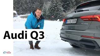Audi Q3 2019 40 TFSI quattro S tronic (140 kW / 190 PS) Testbericht und Ski fahren