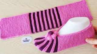 Научитесь очень легко вязать пинетки - вязание носков