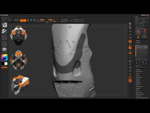 CGI 3D Tutorials : Zbrush Painting - Layer Masking