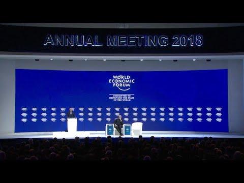 Elite econômica mundial em Davos