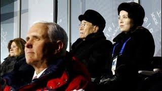 Olympics: Mike Pence, Kim Jong Un's sister Kim Yo Jong, From YouTubeVideos