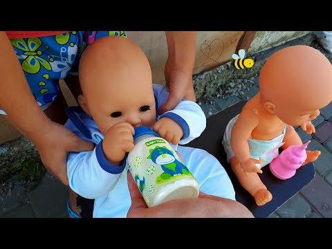 Утро с куклами   Morning with dolls   кушаем / играем / Baby born / For kids