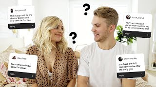 REACTING TO THINGS PEOPLE ASSUME ABOUT OUR RELATIONSHIP! PART 2