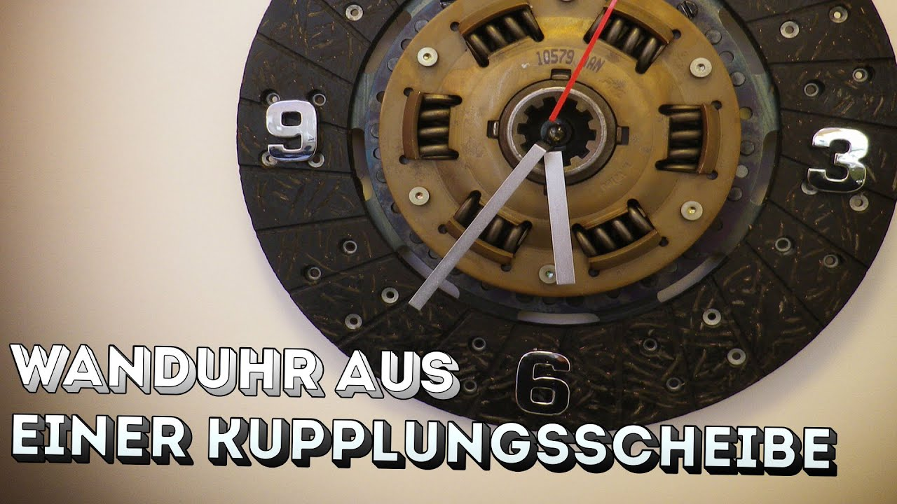 wanduhr aus einer kupplungsscheibe selbst machen diy youtube. Black Bedroom Furniture Sets. Home Design Ideas